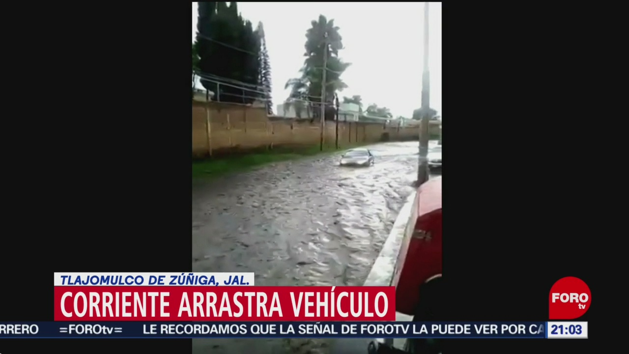FOTO: Lluvias provocan río de piedras en Tlajomulco de Zúñiga, Jalisco, 21 Julio 2019
