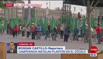 Manifestantes protestan en el Zócalo de la CDMX
