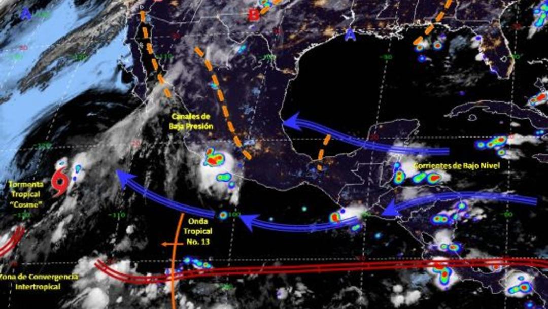 Foto: Imagen de fenómenos meteorológicos significativos de las 06:00 horas, 7 julio 2019