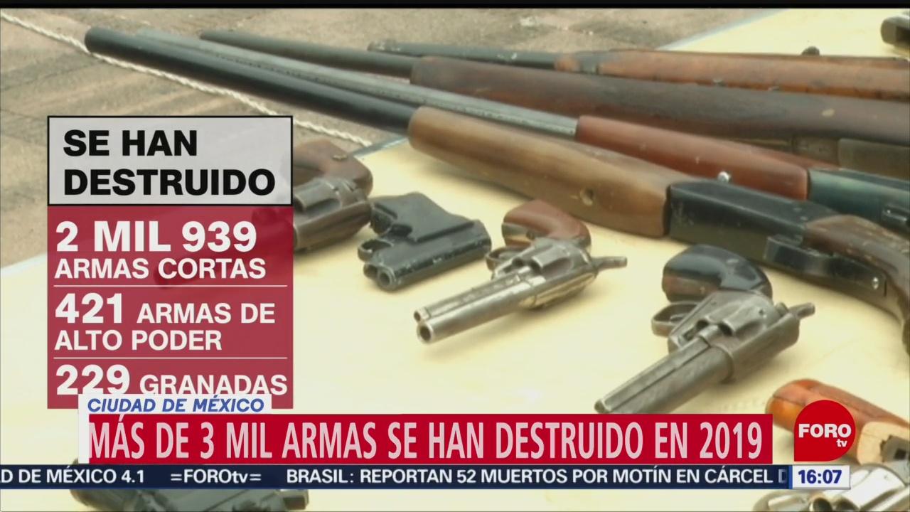 Foto: Más 3 mil armas han destruido CDMX