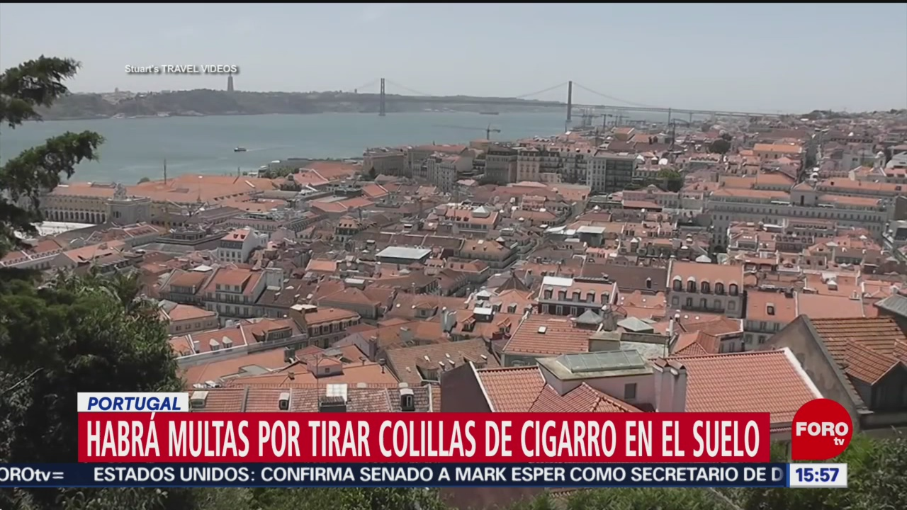 Multas por tirar colillas de cigarro en el suelo en Portugal