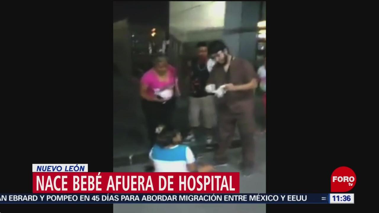 Nace bebé afuera de hospital en Nuevo León