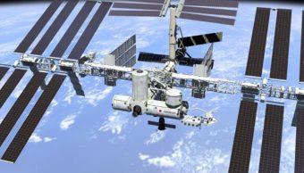 Imagen: Al igual que hace 50 años, la insignia de la Soyuz MS-13 no incluye los nombres de los astronautas, 20 de julio de 2019, (Getty Images, archivo)