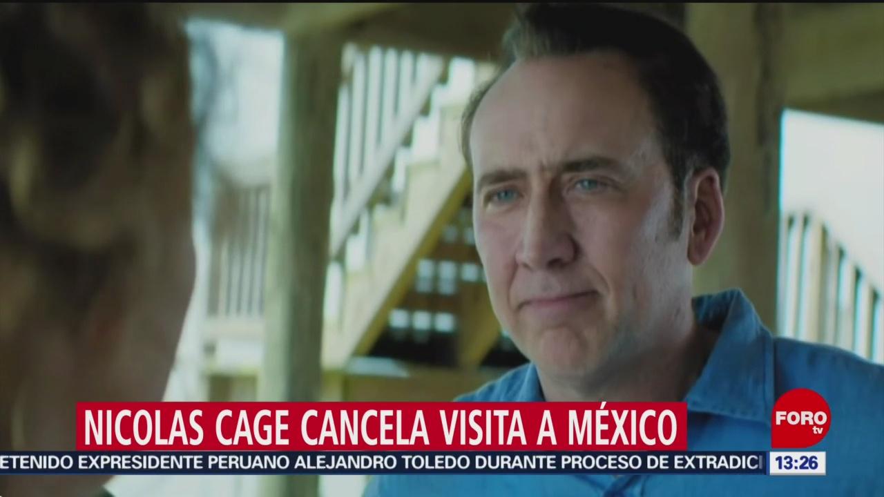 FOTO: Nicolas Cage cancela visita a México, 21 Julio 2019