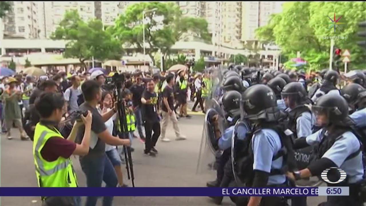 Nueva jornada de protestas en Hong Kong