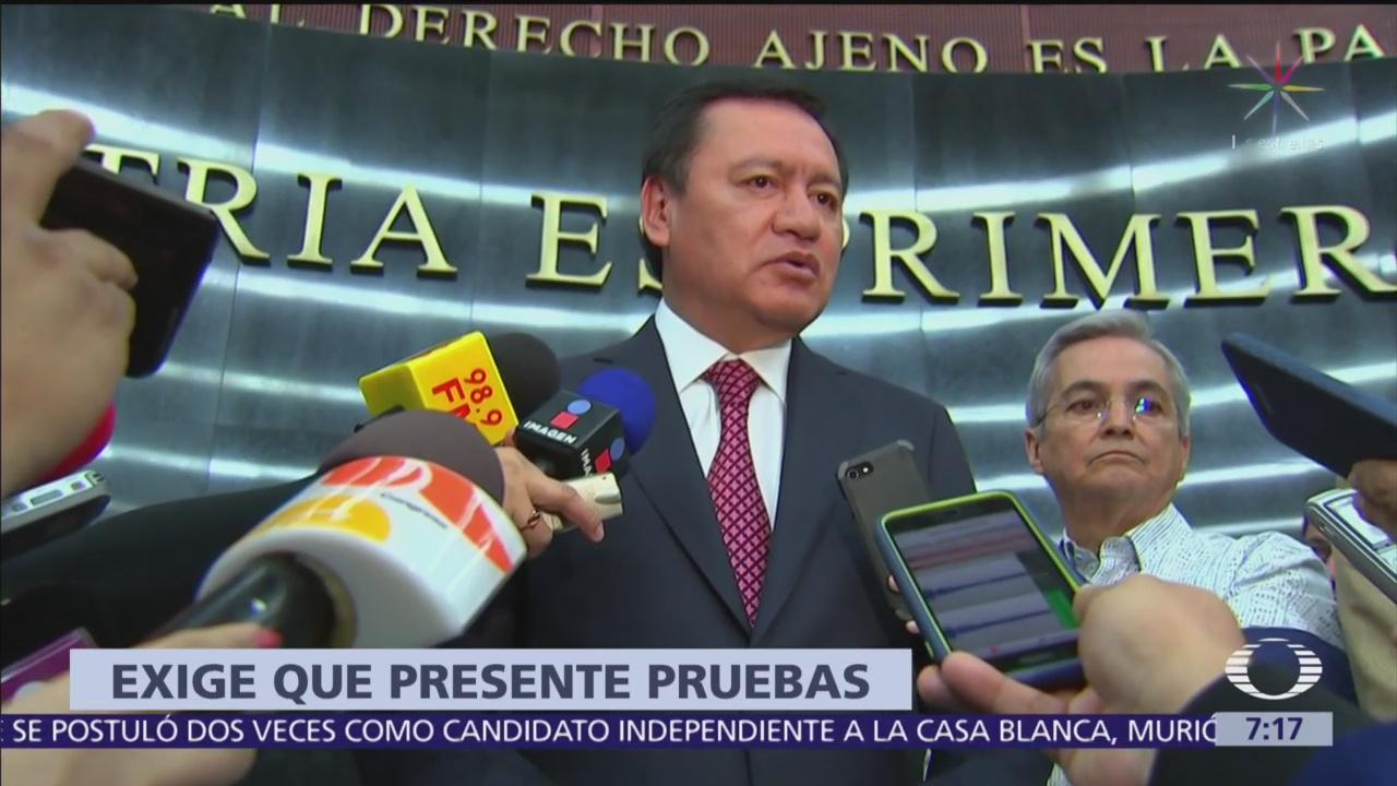 Osorio Chong desmiente a Duarte de supuesta injerencia