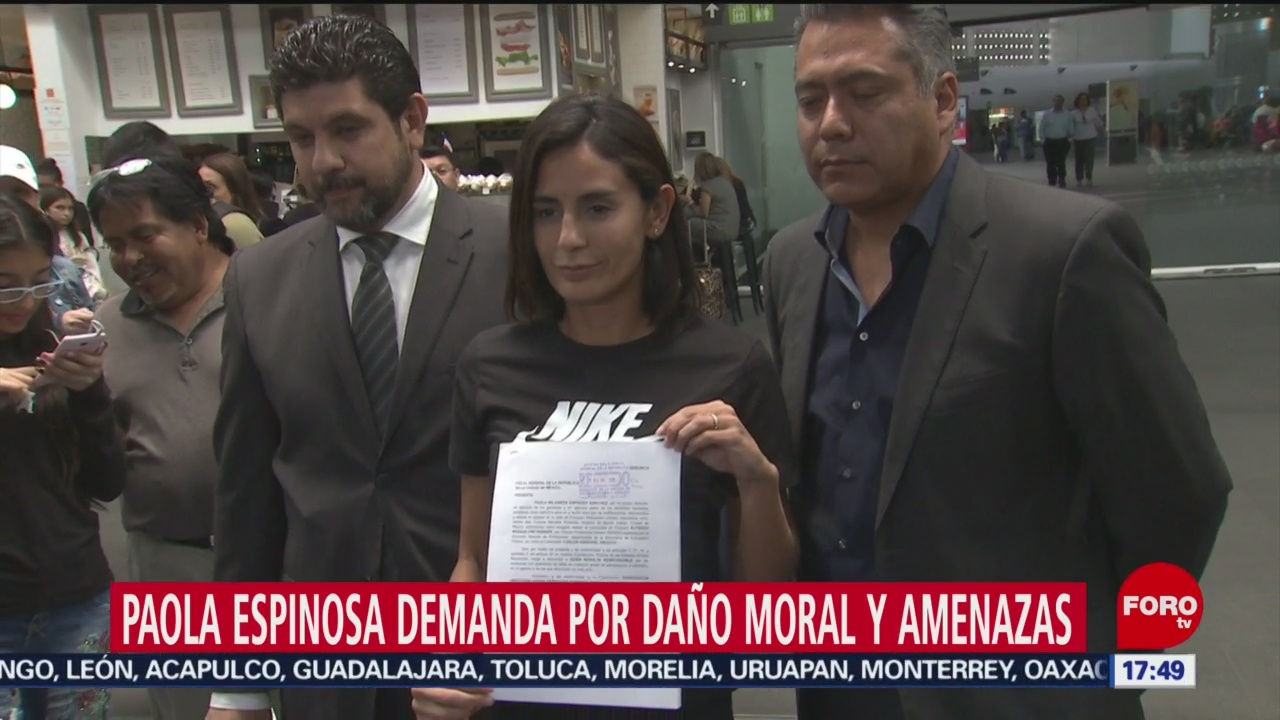 Foto: Paola Espinosa Denuncia Amenazas Redes Sociales 4 Julio 2019