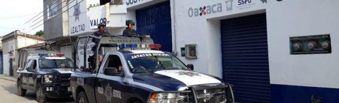 Operativo de seguridad en Oaxaca.