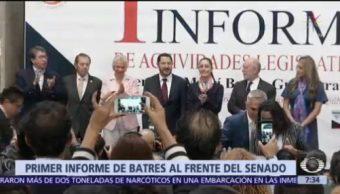 Primer informe de Martí Batres al frente del Senado