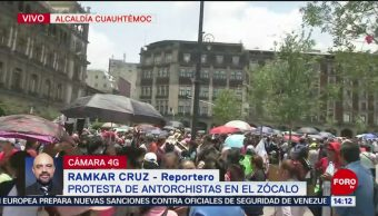 Protesta de antorchitas Zócalo