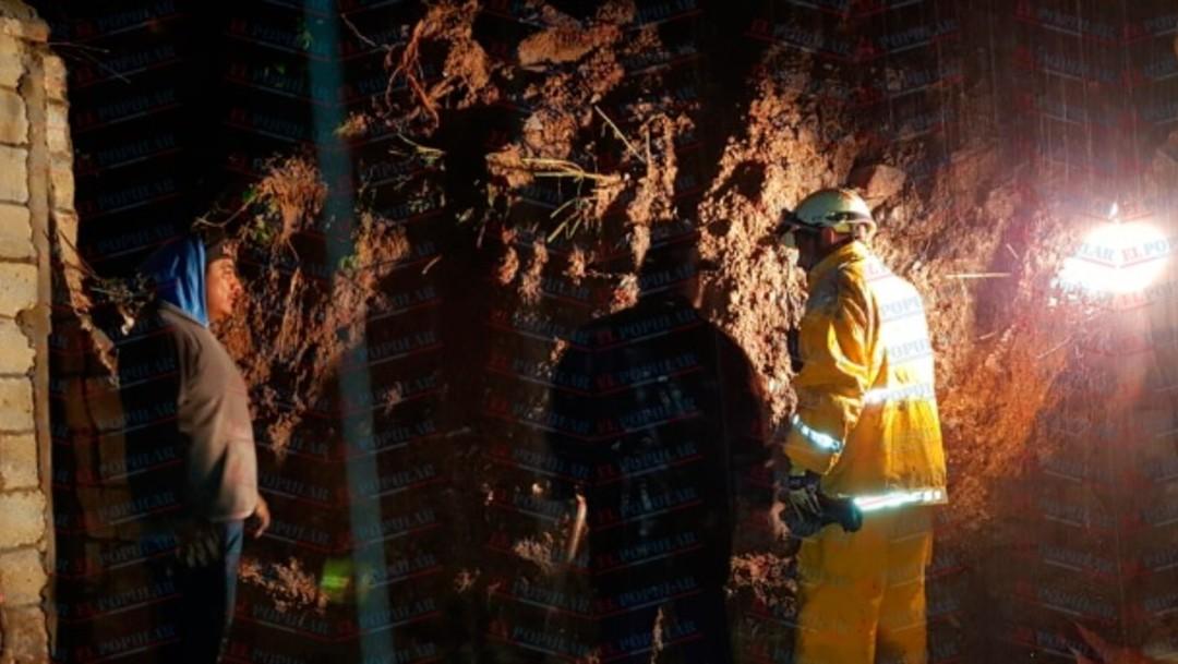 Deslave de cerro en Puebla deja seis muertos