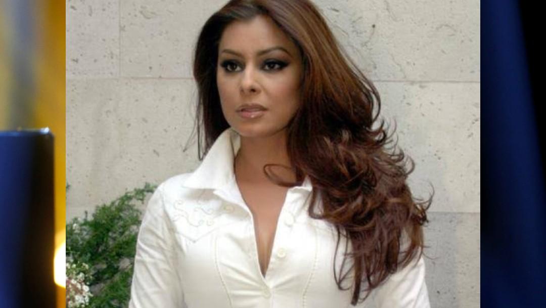 Foto: La actriz Yadhira Carrillo, esposa del abogado Juan Collado, el 20 de julio de 2019 (Twitter: @MARKYSILVAR)