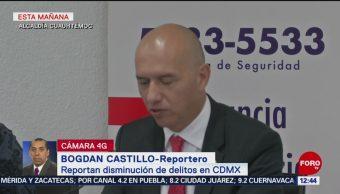 Reportan disminución de delitos en CDMX