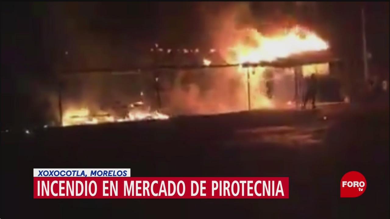 Foto: Saldo blanco tras explosión de pirotecnia en Morelos