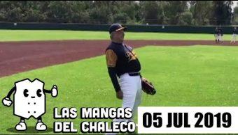 Foto: Las Mangas del Chaleco Clases de beisbol de AMLO