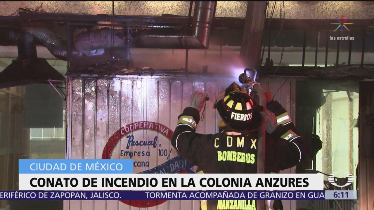 Se registra conato de incendio en la colonia Anzures, CDMX