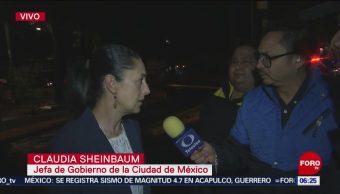 Sheinbaum: Tras volcadura, la vialidad será restablecida lo más pronto posible en Tlalpan