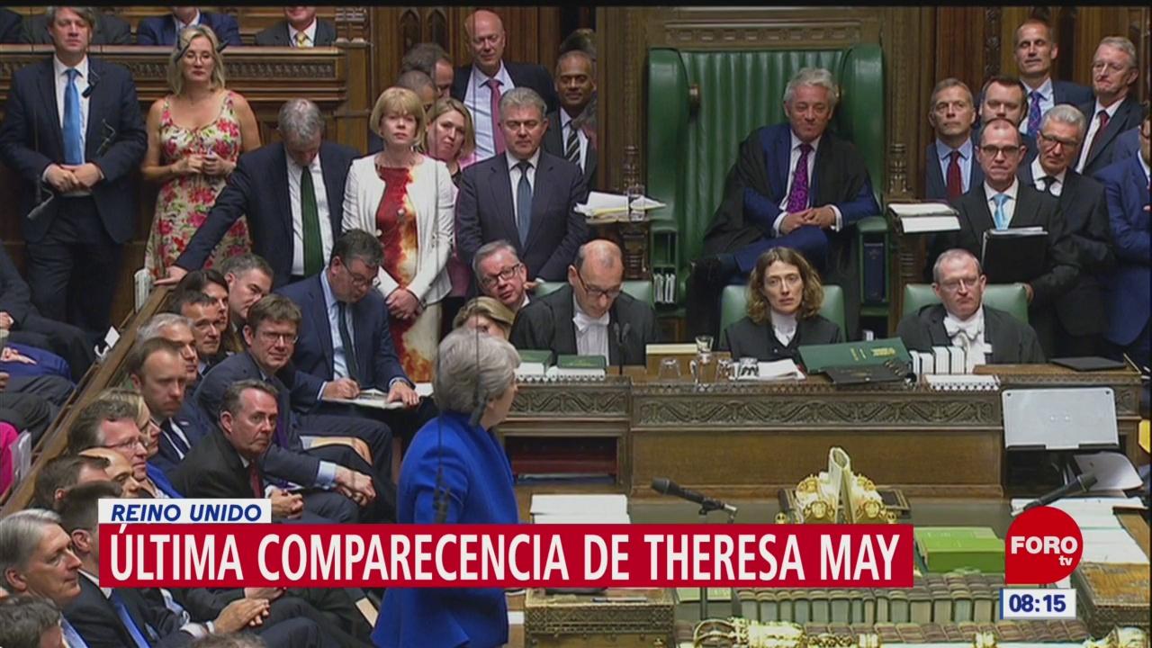 Theresa May acude al Parlamento por última vez como primera ministra