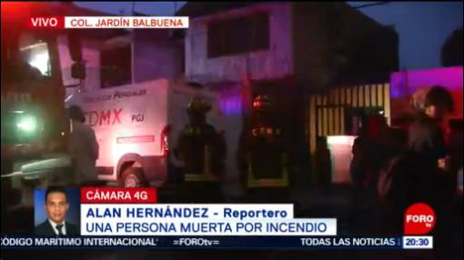 Foto: Incendio Muerto Casa Jardín Balbuena Cdmx 19 Julio 2019