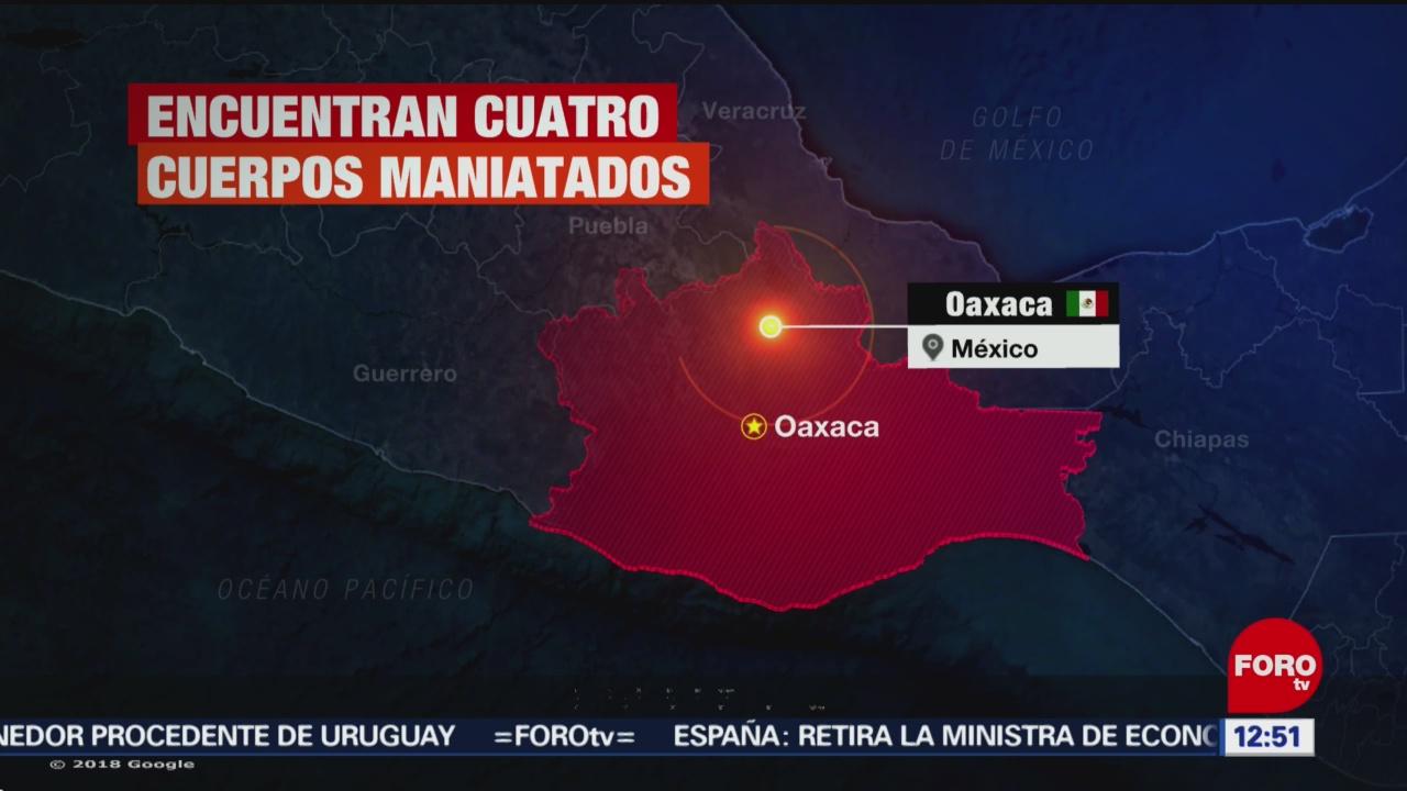 Abandonan taxi con 4 cuerpos en Tapanatepec, Oaxaca