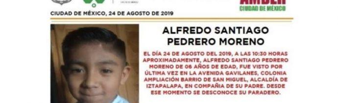 Foto Alerta Amber para localizar a Alfredo Santiago Pedrero Moreno 28 agosto 2019