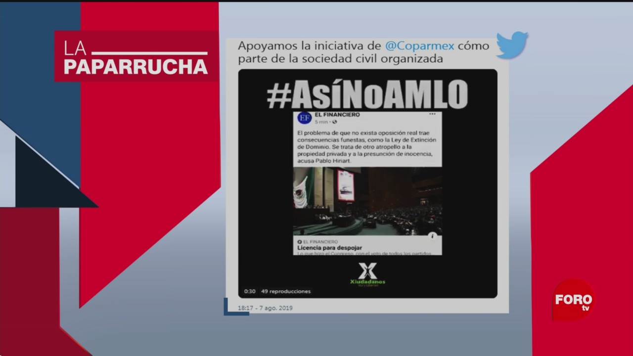 Foto: Alternativas México Coparmex Noticias Falsas 12 Agosto 2019