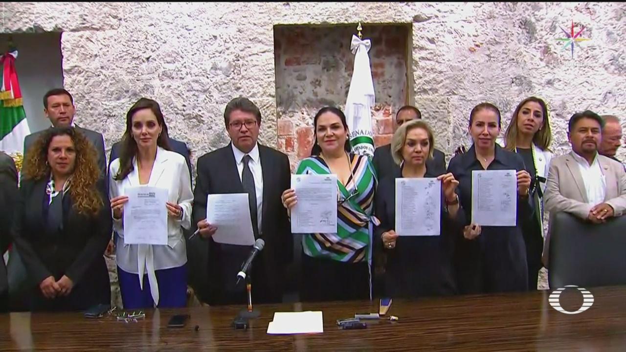 Foto: Amlo Legisladores Morena No Modificar Leyes Favor 29 Agosto 2019