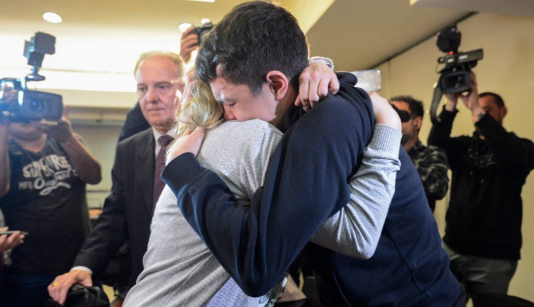 Foto: Fabbro después de haber sido condenado a 14 años de prisión, 29 de agosto de 2019 (AP)