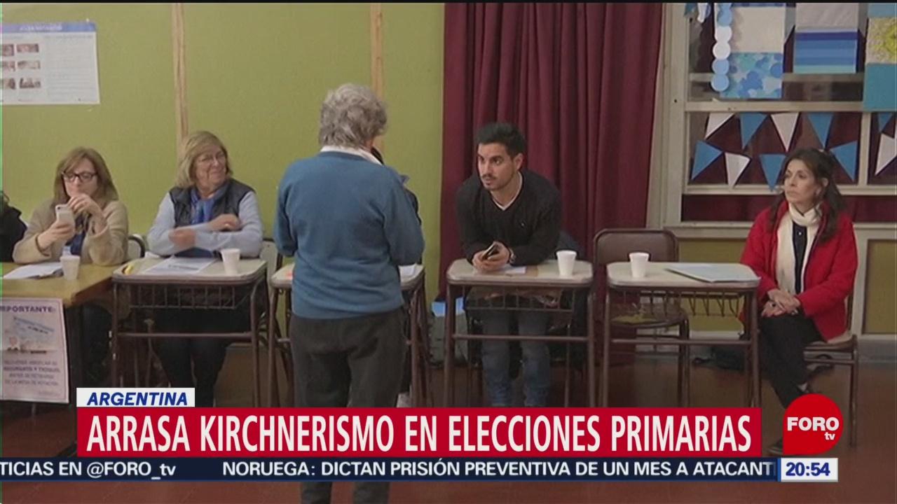 Foto: Arrasa Kirchnerismo Elecciones Primarias Argentina 12 Agosto 2019