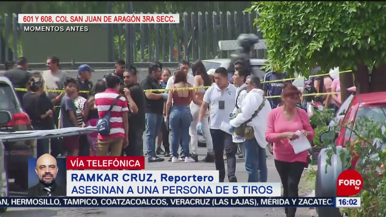 FOTO: Asesinan a una persona de cinco de tiros en Aragón, 18 Agosto 2019
