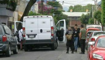 Al lugar llegaron elementos de la Policía de Investigación de la CDMX, el 17 de agosto de 2019 (Noticieros Televisa)