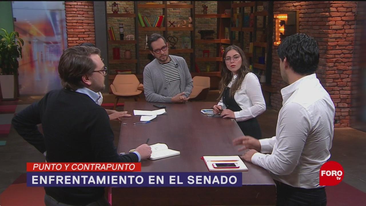 Foto: Batres Monreal Enfrentamiento Mesa Directiva Senado 20 Agosto 2019
