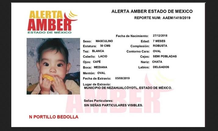 Foto: bebé robado en Nezahualcóyotl.