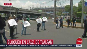 FOTO: Comerciantes bloquean Calzada de Tlalpan