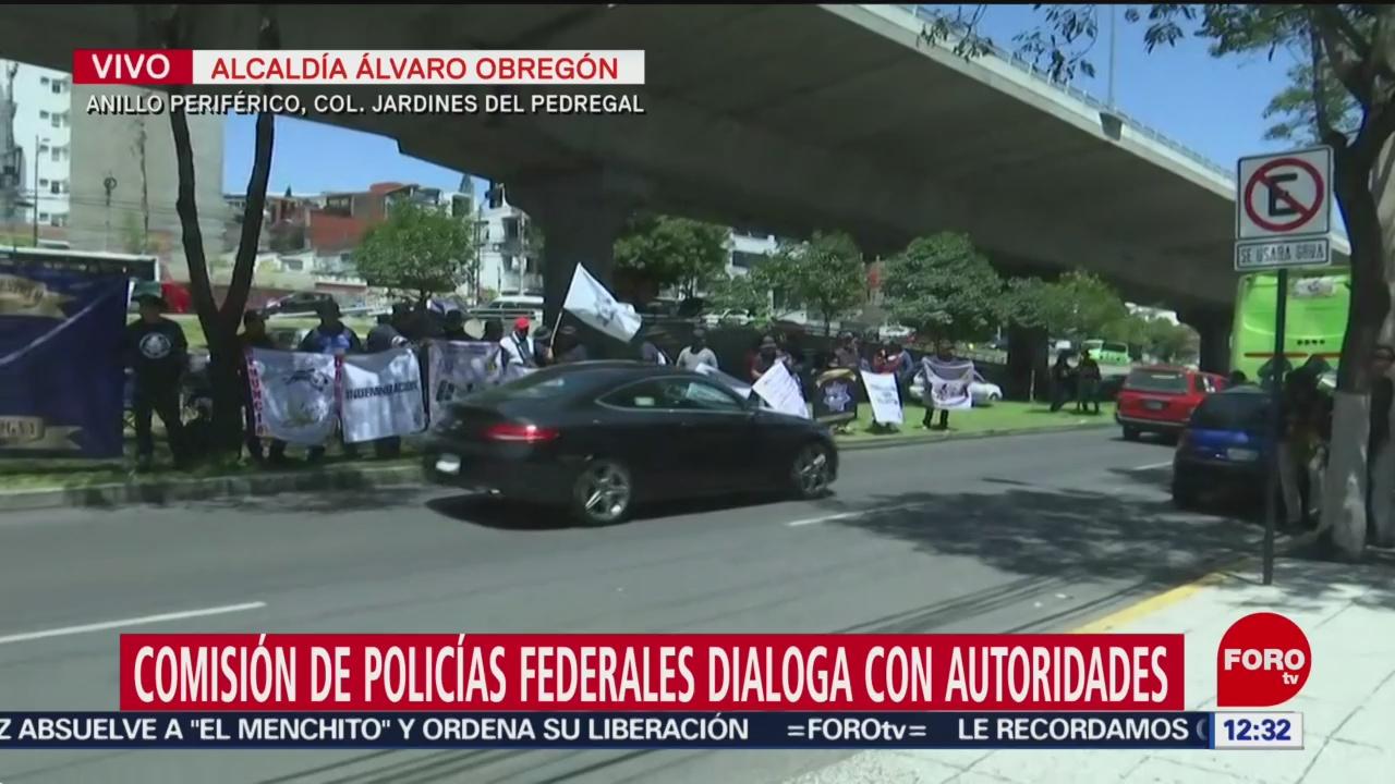 Comisión de policías federales dialoga con subsecretario de Seguridad Ciudadana en CDMX