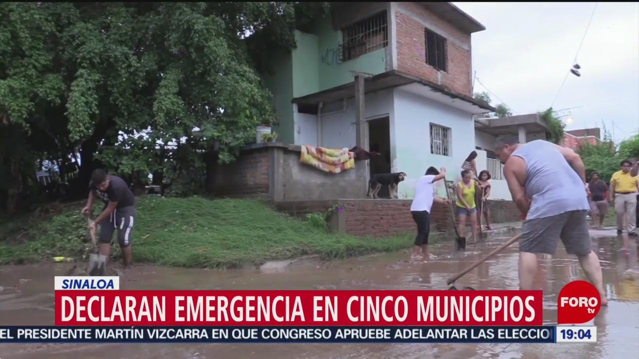 FOTO: Declaran emergencia en cinco municipios en Sinaloa, 24 Agosto 2019