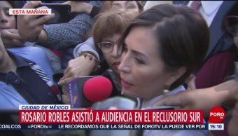 Foto: Declaran receso audiencia Rosario Robles