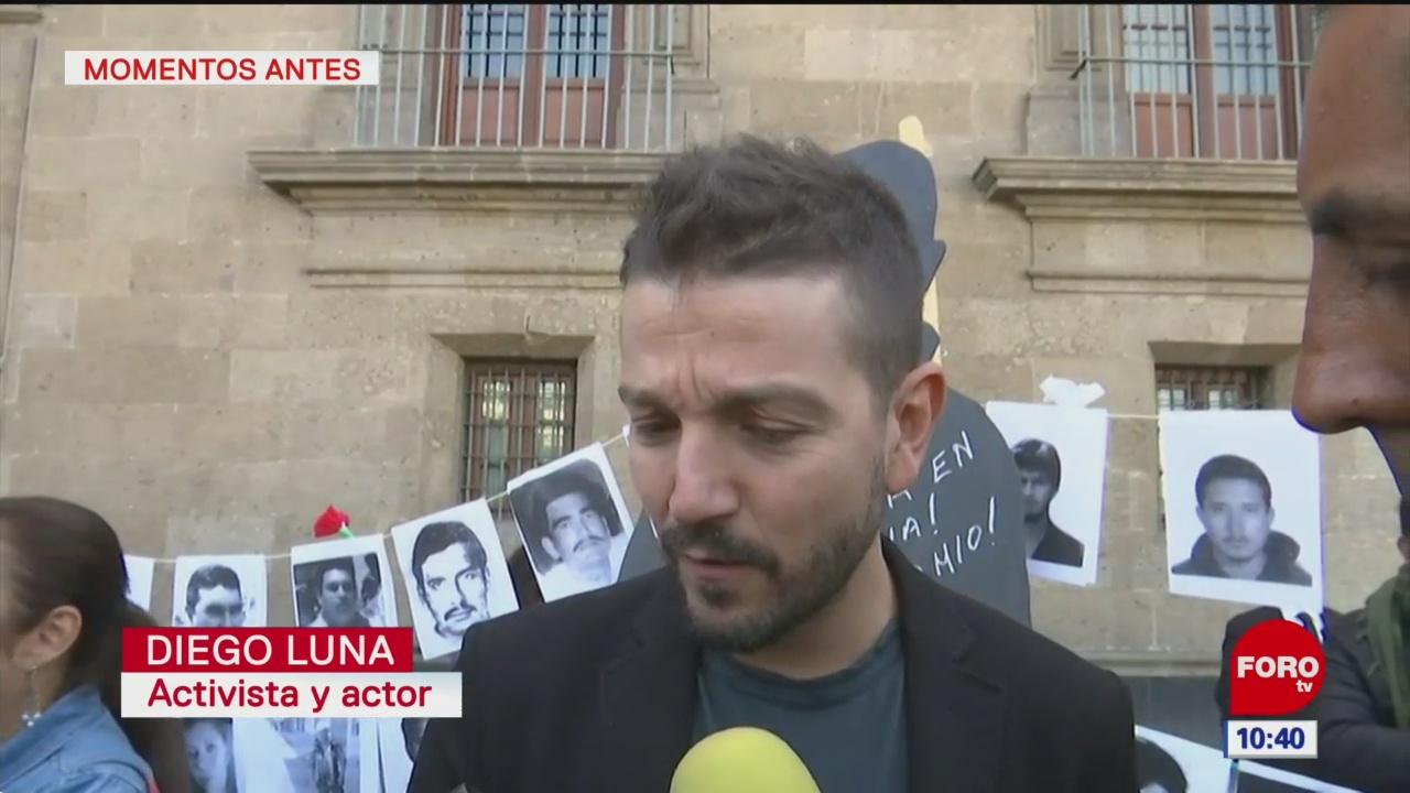 Diego Luna pide alzar la voz contra desapariciones en México