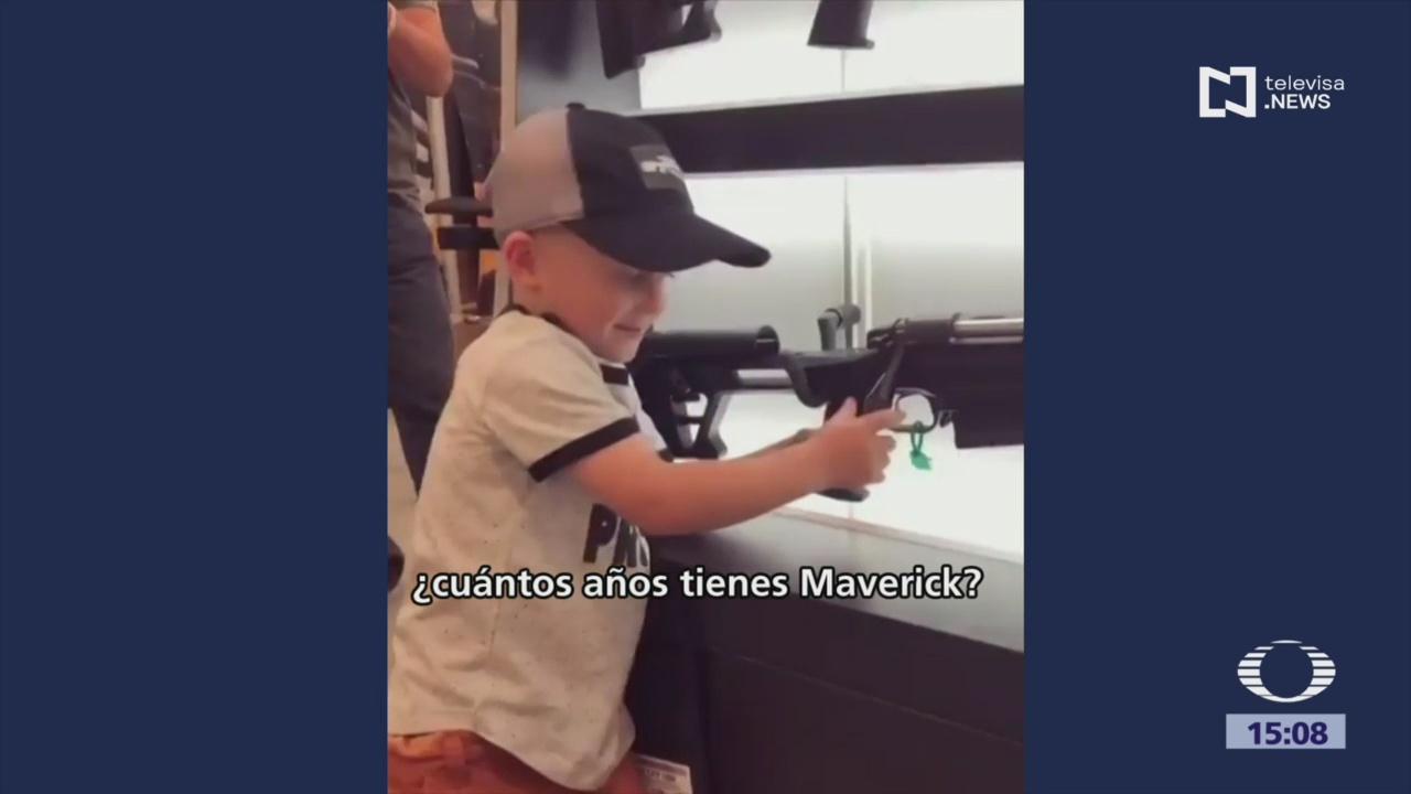Foto: Video Niño Usando Arma Fuego Perfección, 5 de Agosto de 2019