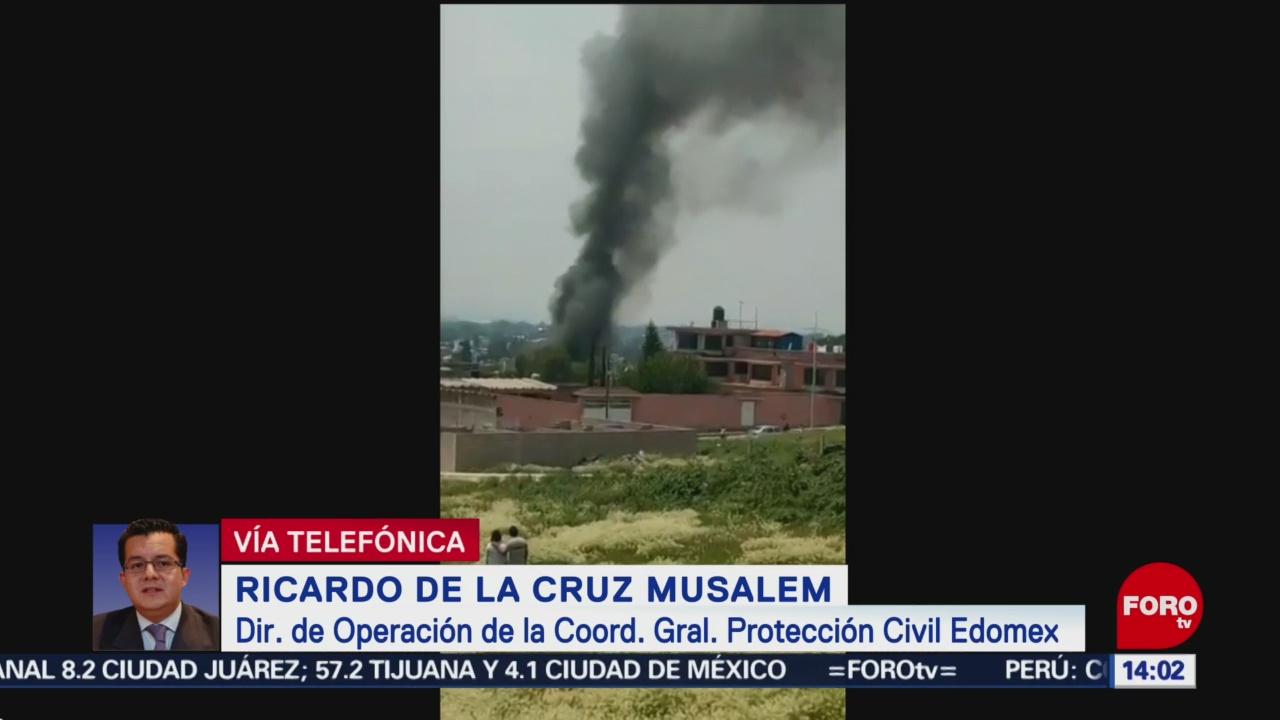 FOTO: Explosión por pirotecnia en Tultepec deja 1 muerto, 25 Agosto 2019