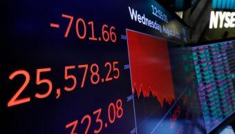 Foto: Sesión en la Bolsa de Nueva York. El 14 de agosto de 2019. AP