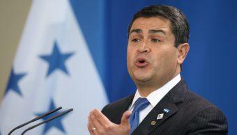 Imagen: El presidente de Honduras, Juan Orlando Hernández, es acusado de corrupción, 3 de agosto de 2019 (Getty Images, archivo)