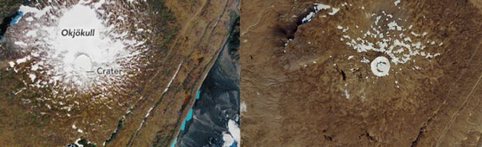 Foto Imágenes de la NASA muestran desaparición de un glaciar en Islandia 14 agosto 2019