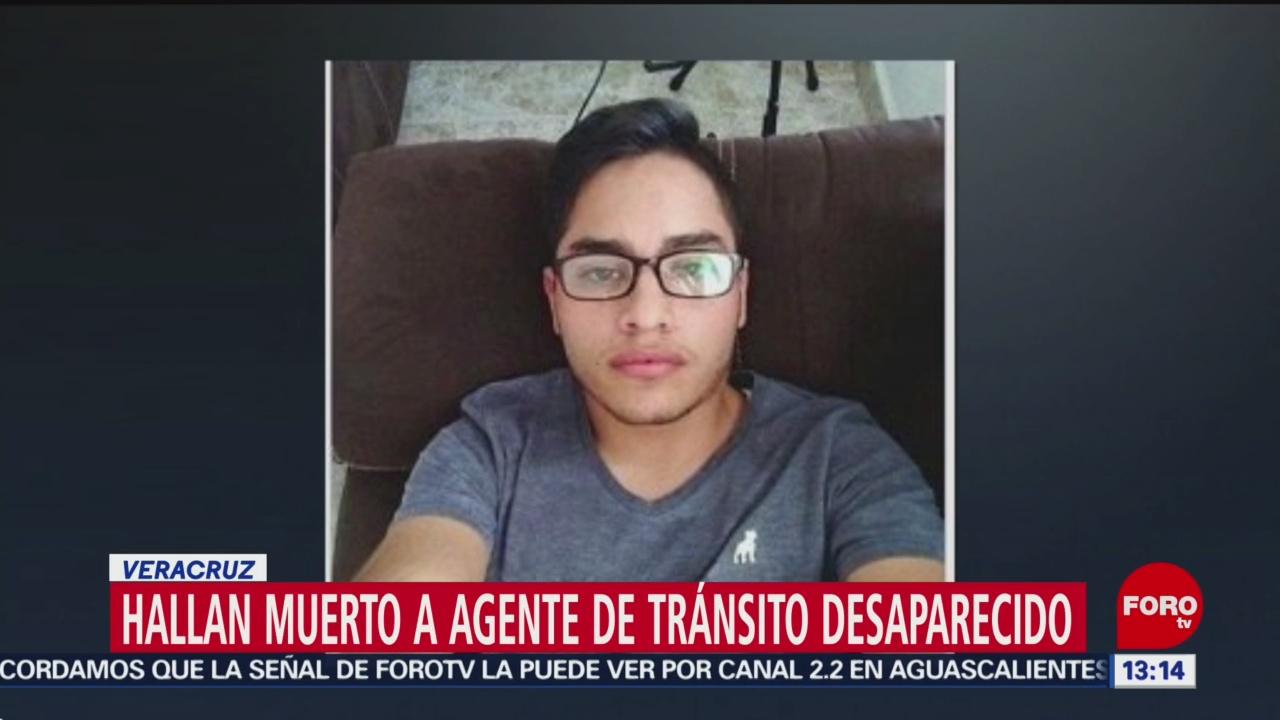 FOTO: Hallan muerto a agente de tránsito desaparecido en Veracruz, 11 Agosto 2019