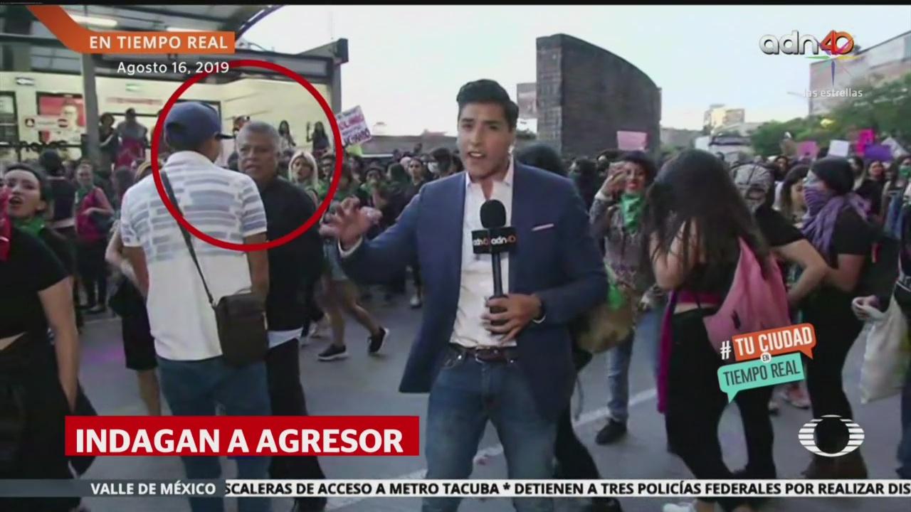 Foto: Investigan Agresor Reportero Juan Manuel Jiménez ADN40 19 Agosto 2019