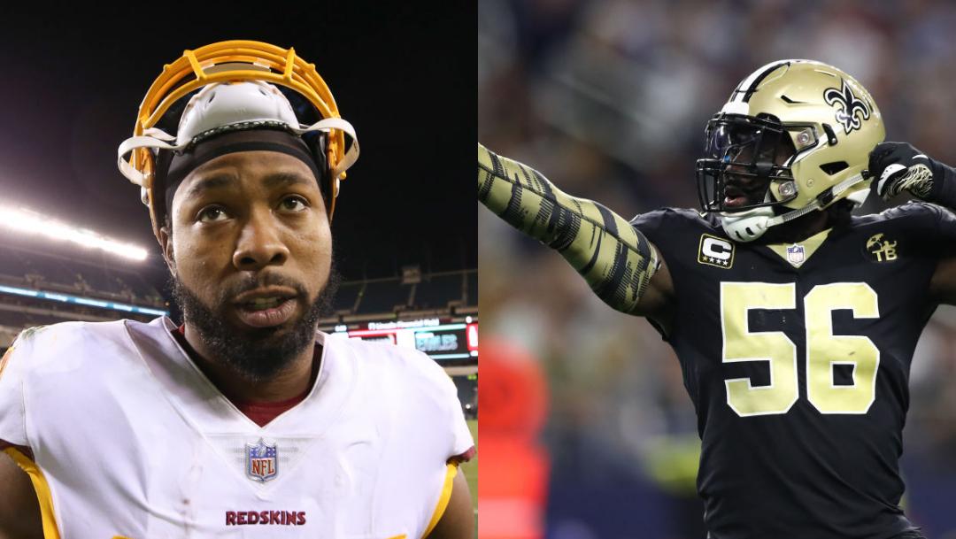 Foto: Josh-Norman-Demario-Davis-jugadores-NFL. 15 agosto 2019