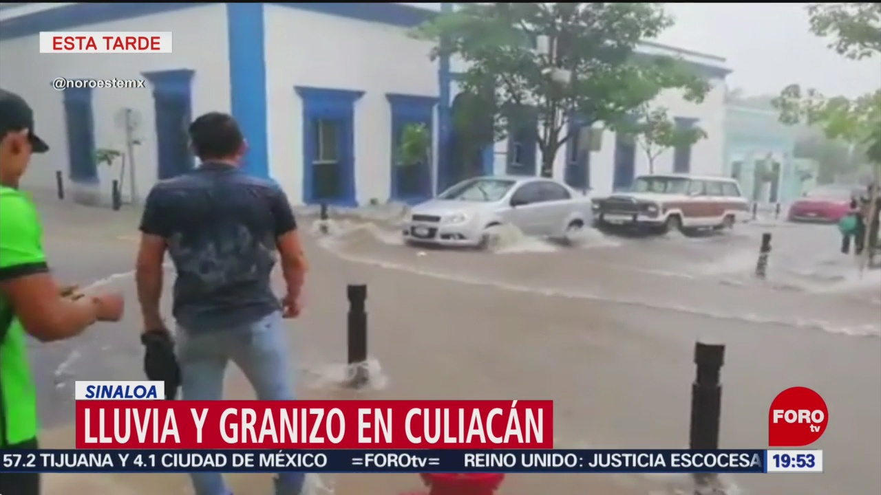 Foto: Lluvia Torrencial Granizo Sorprenden Culiacán 30 Agosto 2019