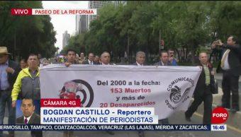 FOTO: Manifestación periodistas Reforma