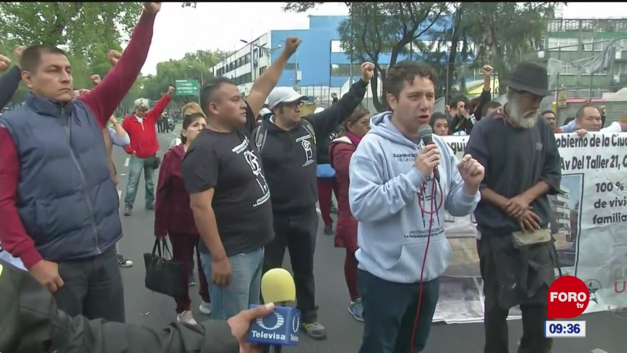 manifestantes retiran bloqueo en calzada de tlalpan