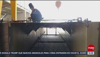 FOTO: Marina construye 4 embarcaciones para recolectar sargazo, 31 Agosto 2019